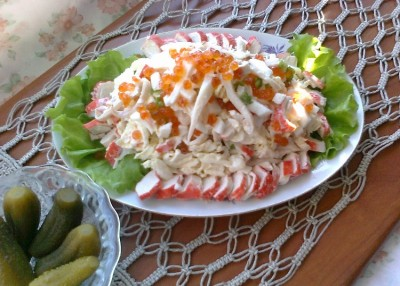 салат морская фантазия рецепт с фото для