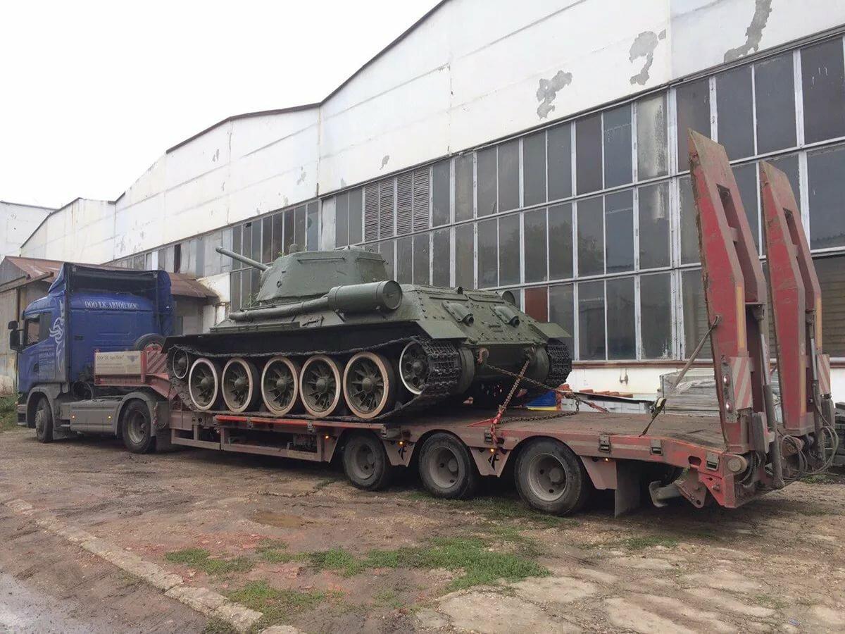 доме фото перевозки танка на трале для