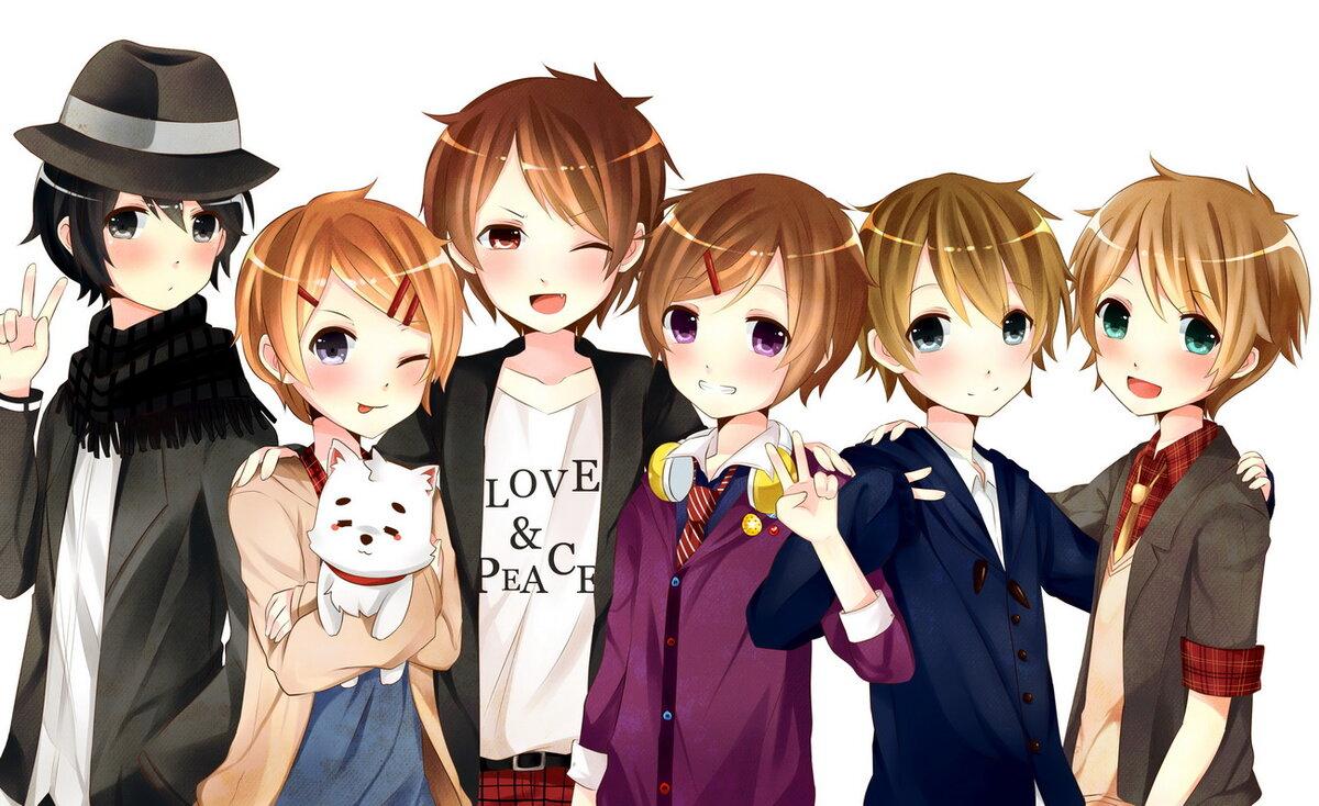 Картинка аниме группа