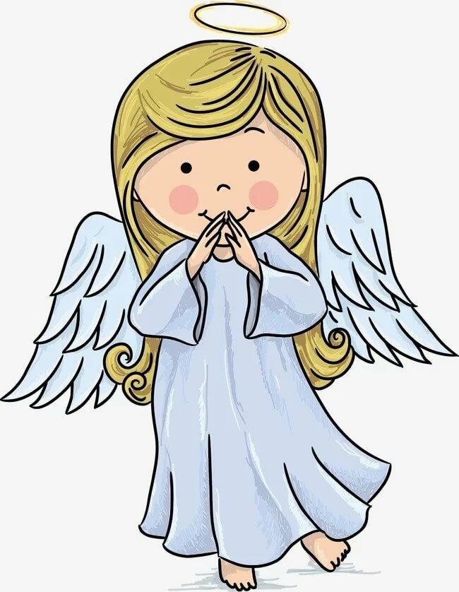 Ангелочек картинка цветная