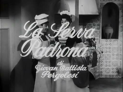 Giovanni Battista Pergolesi - La serva padrona / Джованни Баттиста Перголези - Служанка-госпожа (Италия, 1958 год) смотреть онлайн