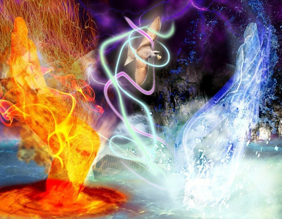 вода огонь земля картинки место, где