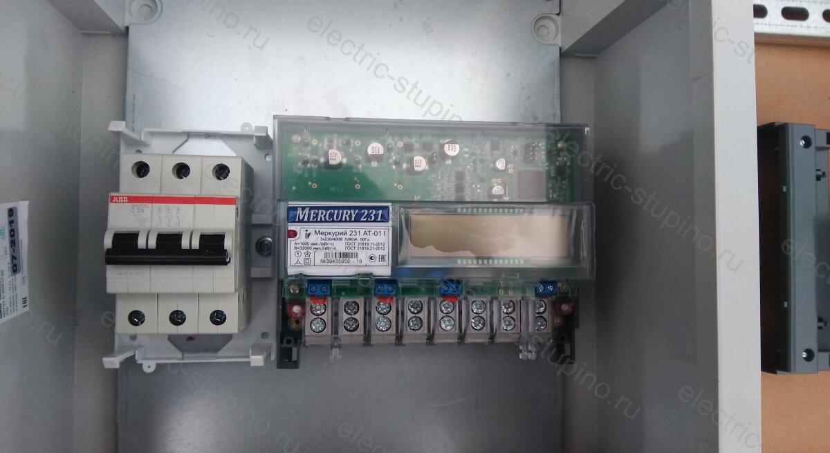 Установка вводного автомата и счетчика электроэнергии в электрощит