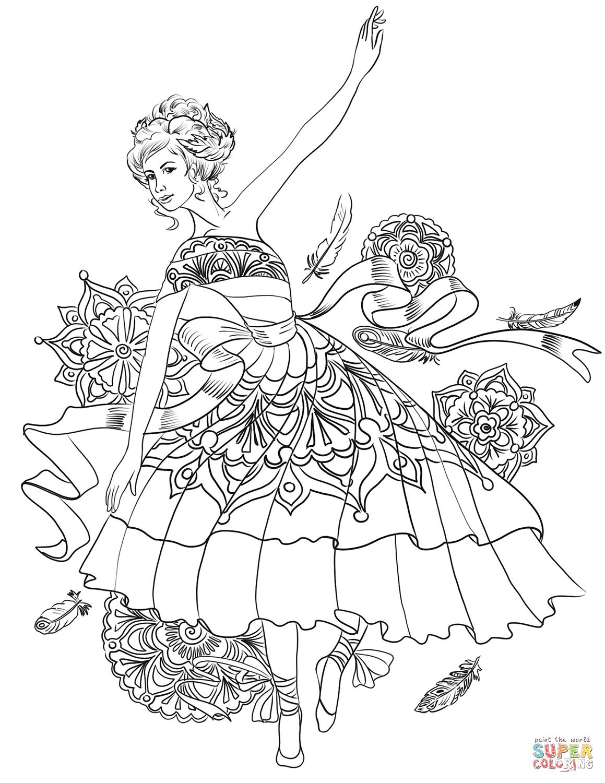 «Раскраска Танец лебедя Раскраски для детей печать онлайн ...