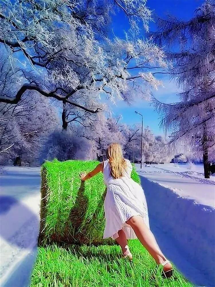Весна и зима картинка