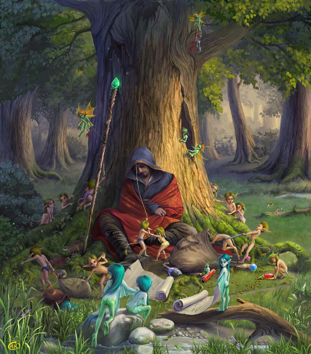 Лес и эльфы картинки