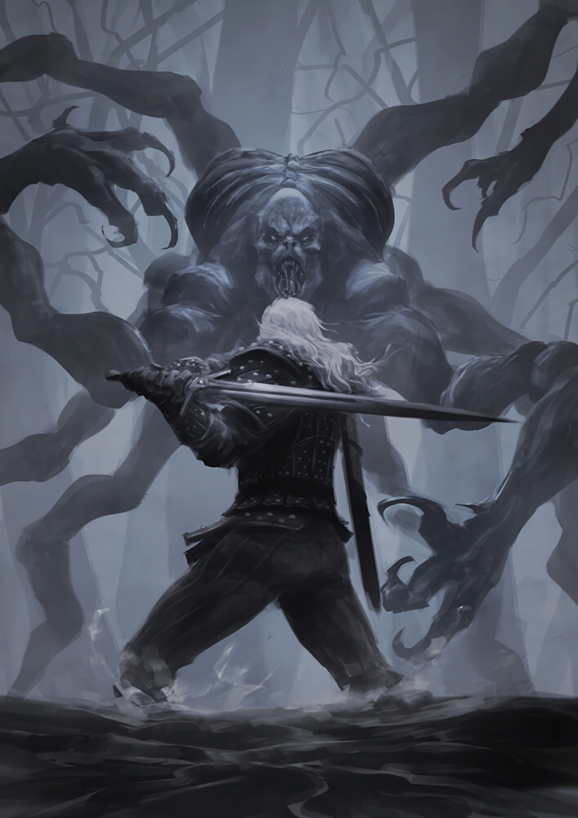 персонажи вселенной ведьмак рельеф контур
