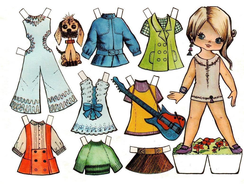 Картинки девочек с одеждой распечатать