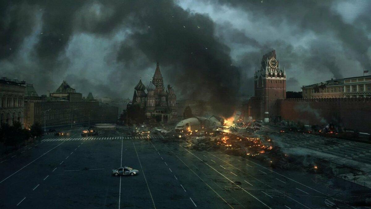 Кремль в огне фото