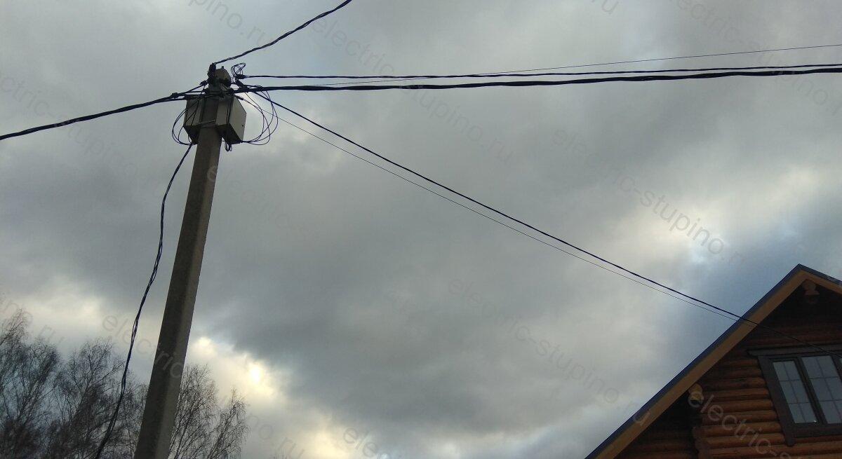 Протяжка СИП по опорам ЛЭП в Ступинском районе