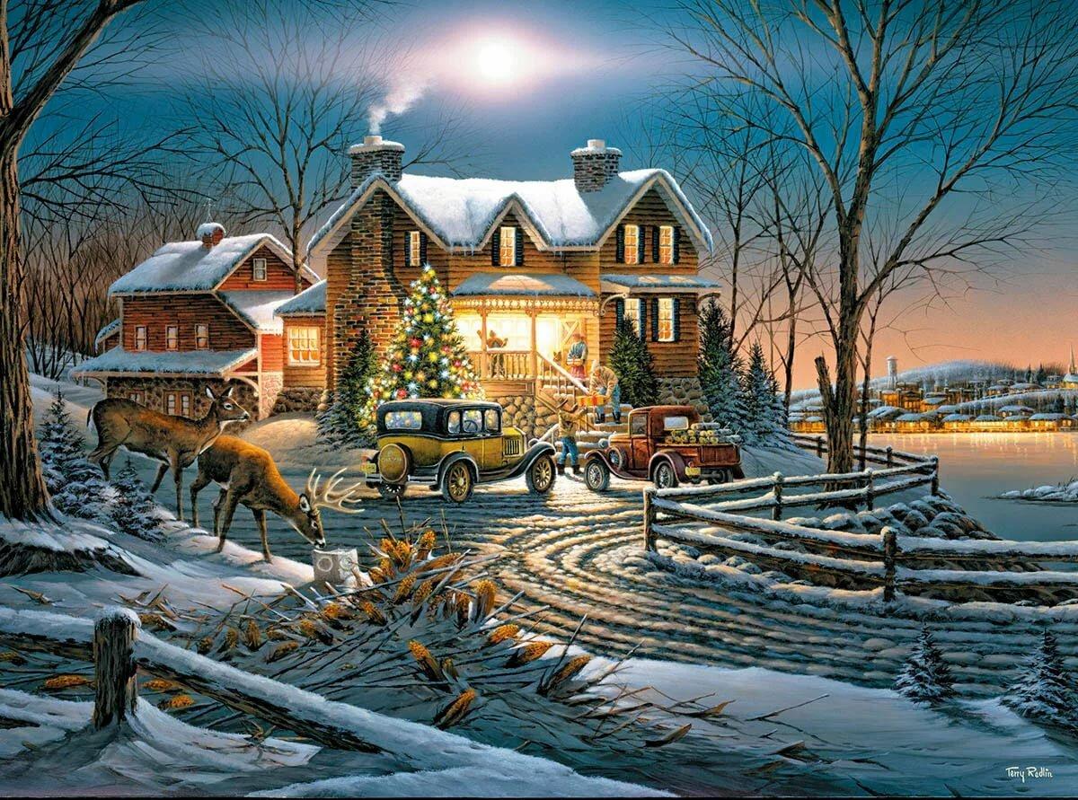 обнаружилось, картинки красивые зимние пейзажи гифы даже