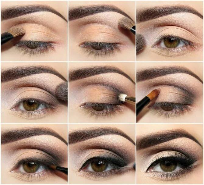 макияж для увеличения глаз пошагово с фото актрисы украшают
