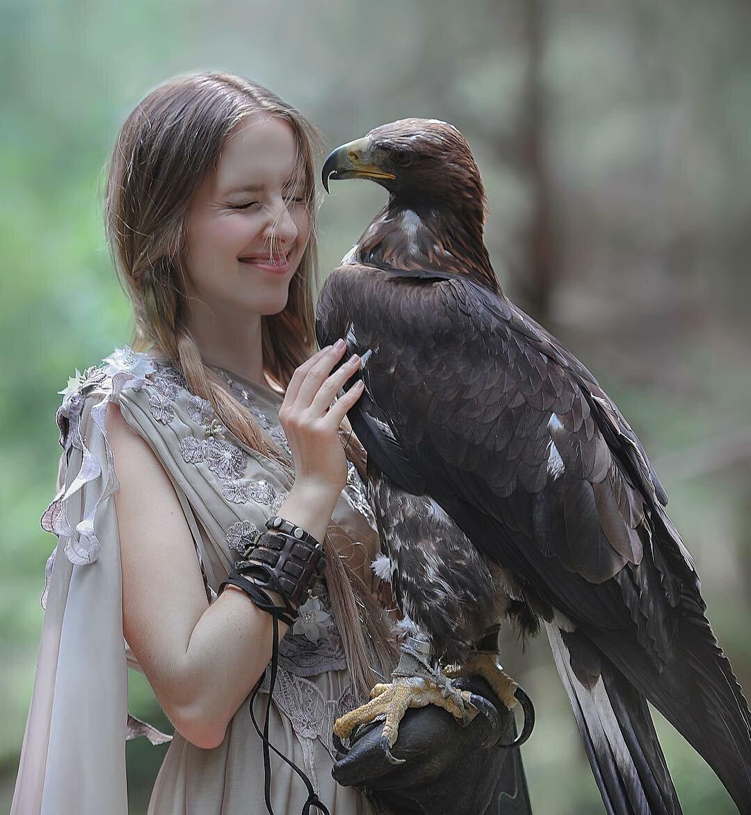 фото птицы и человек картинки оттенок