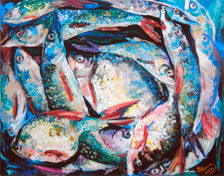 картинки рыба художника недуг