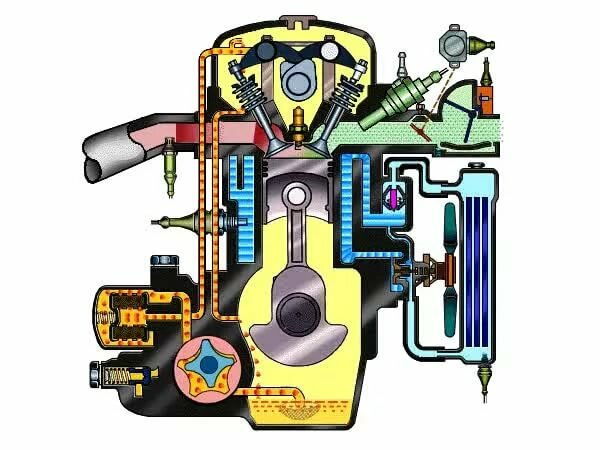 Анимация работающий двигатель