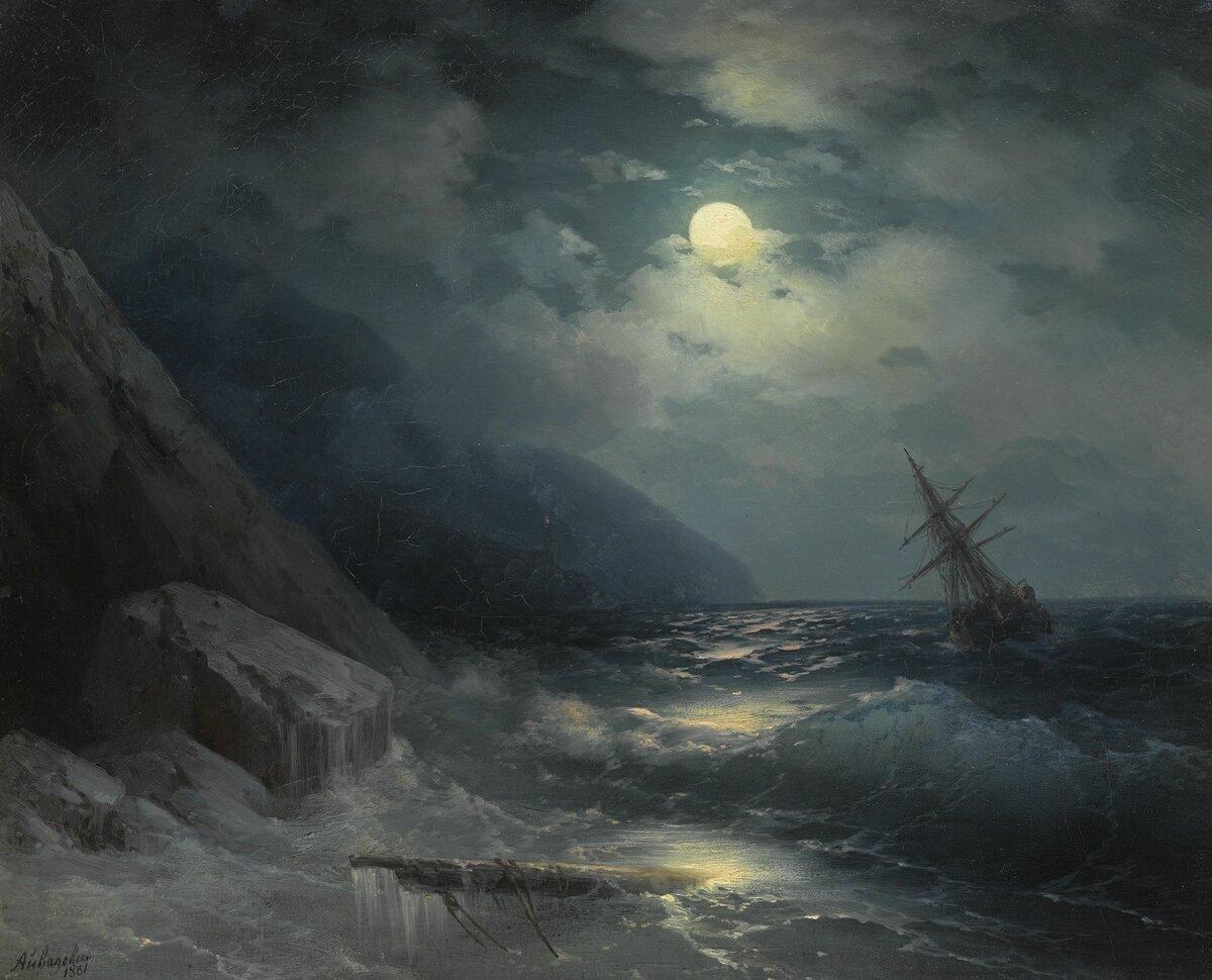 Картина айвазовского море в лунном свете картинки