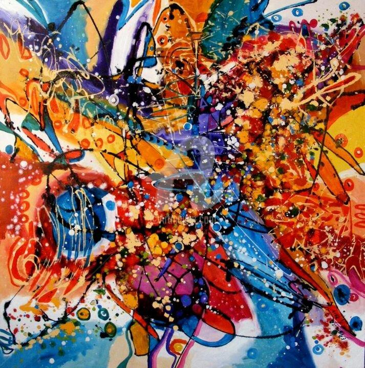Постер абстрактный яркий рисунок автор альбина