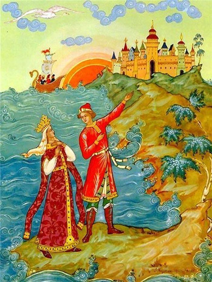 Сказки пушкина иллюстрации к ним