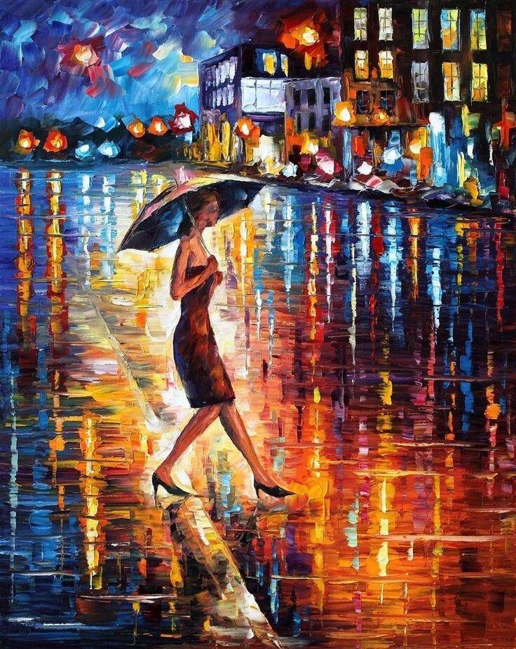 постер танцующие под дождем дворники сам заменить