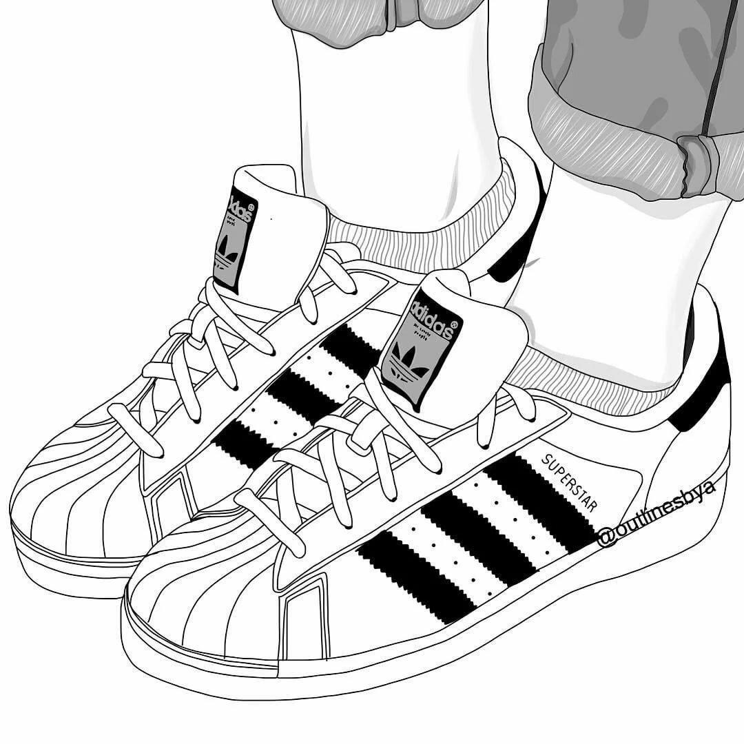 Рисунки для срисовки кроссовки