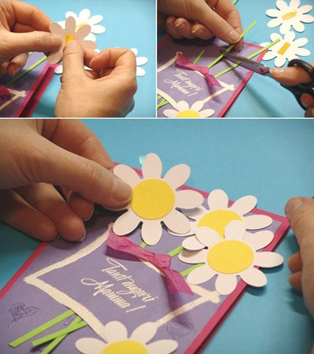 Делаем открытку с ребенком бабушке