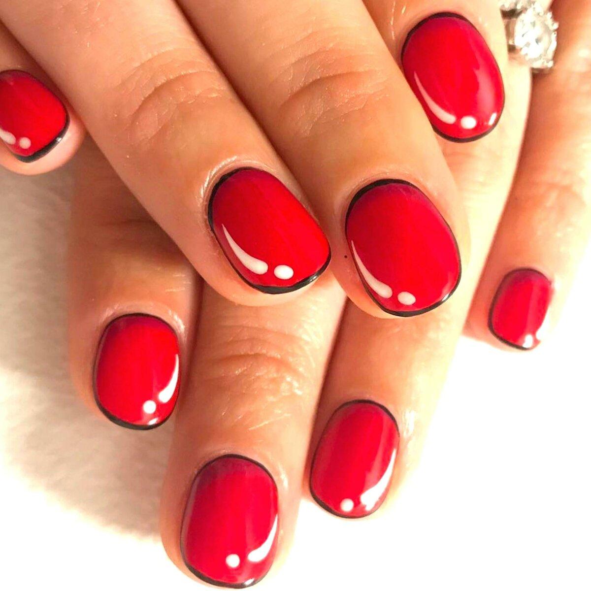 гель лак красный на короткие ногти фото свободного доступа красотка