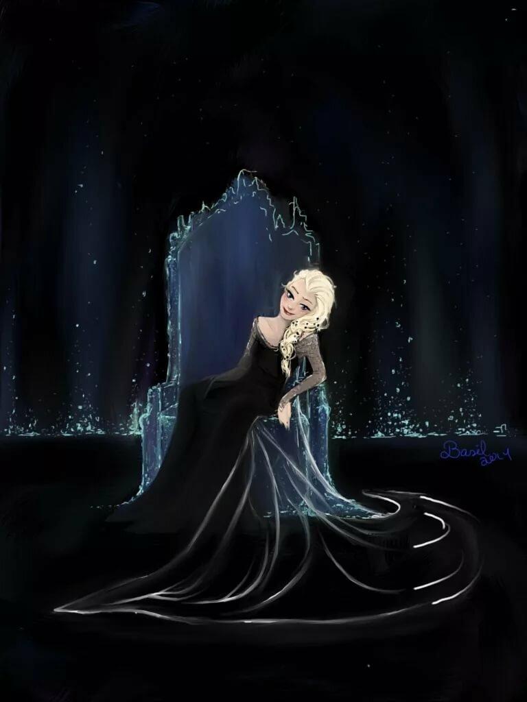 Темная эльза из холодного сердца картинки