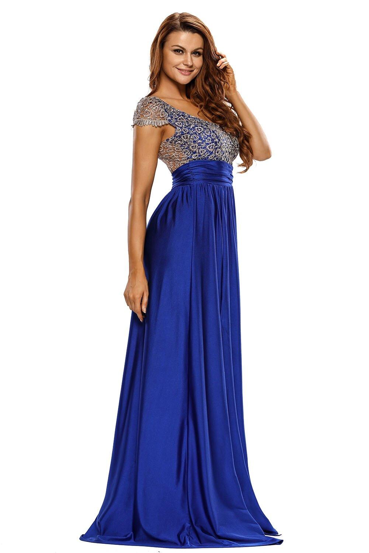 красивые длинные синие платья фото большинства