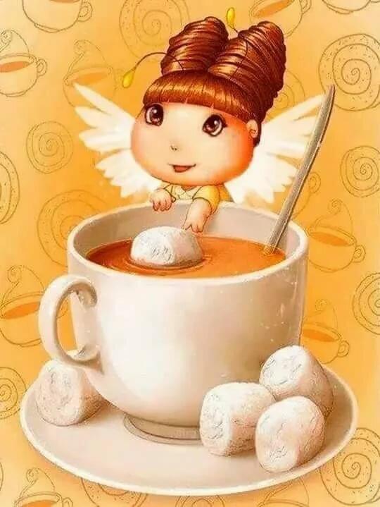 Доброе утро ангелочек картинки