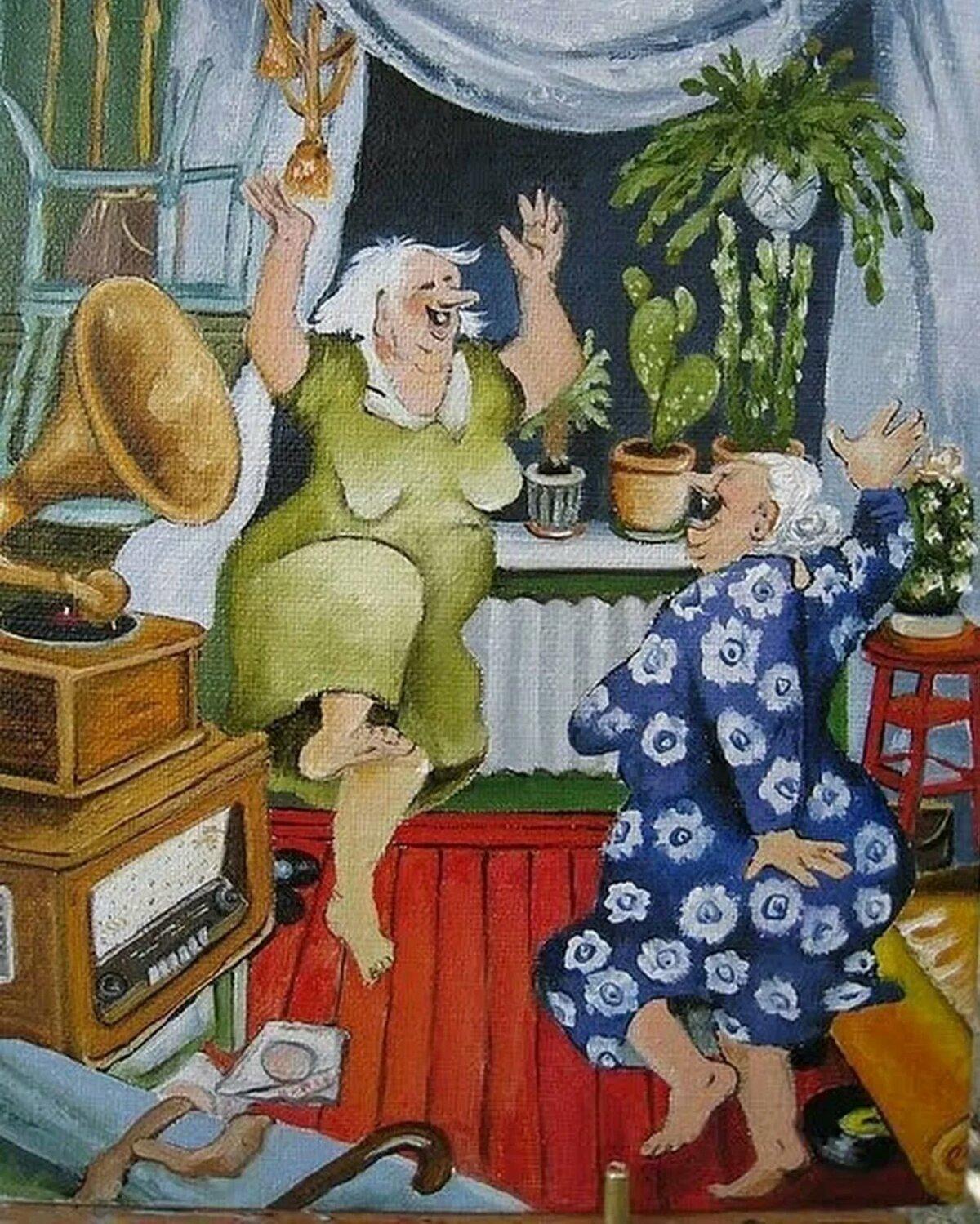 Смешные картинки бабушки старушки