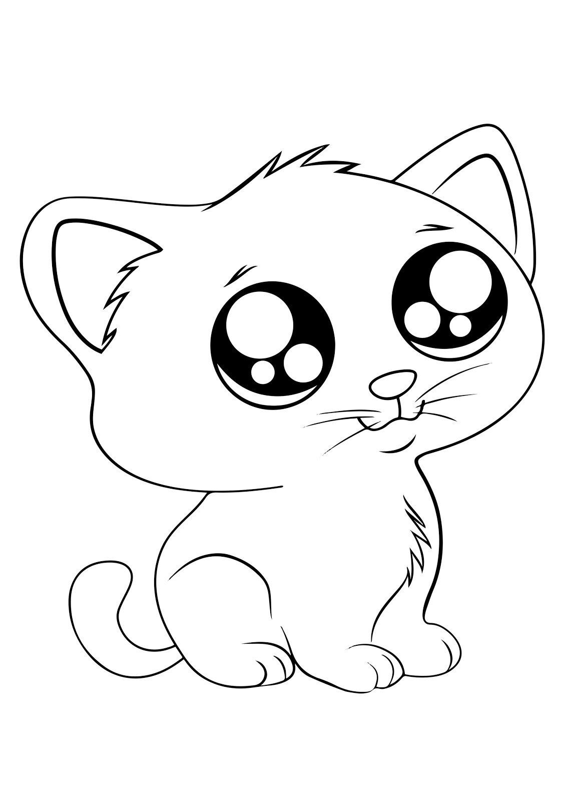 картинки с милыми котятами нарисовать бесплатные