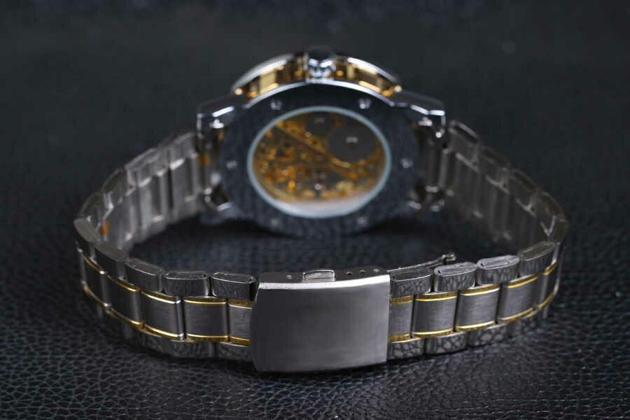 Задний вид с браслетом и застежкой. Часы Winner Prestige
