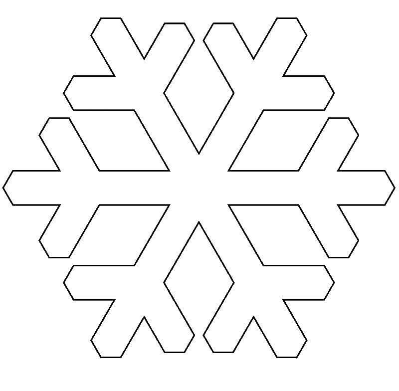 Картинка снежинки для детей трафареты