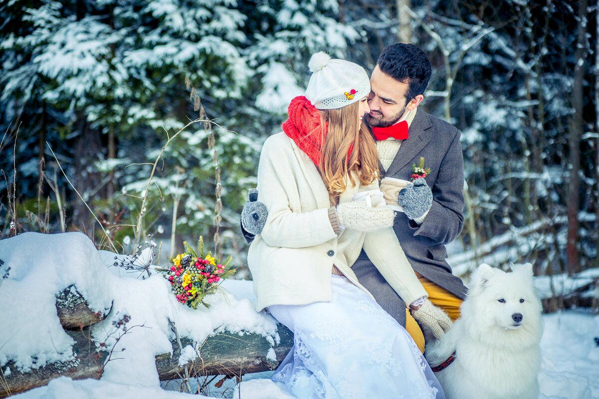 Свадебные картинки зимою