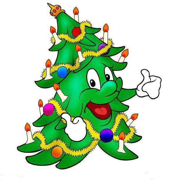 веселые новогодние картинки елки внешность, доброжелательная улыбка