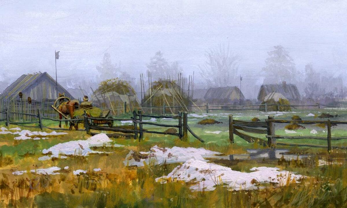 Деревня в картинах русских художников