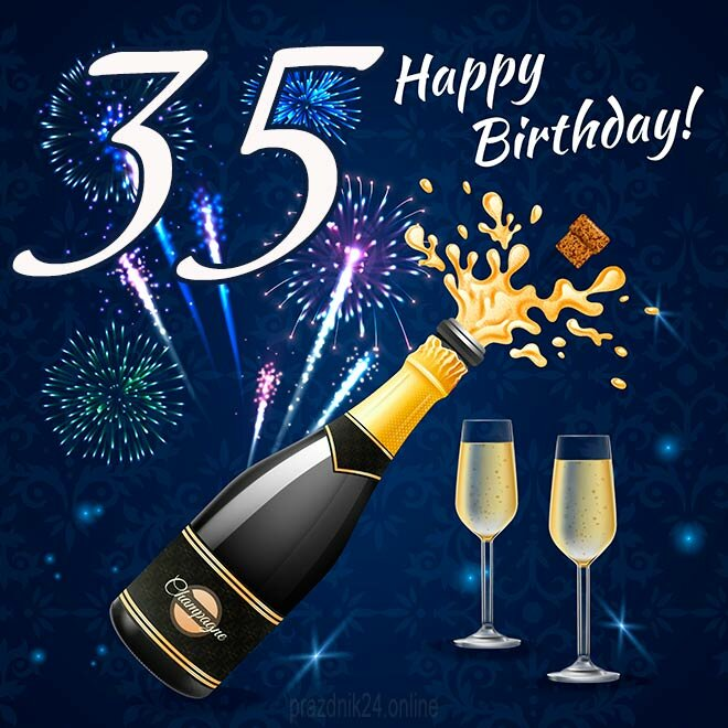 Поздравление мужчине в день рождения 35 лет