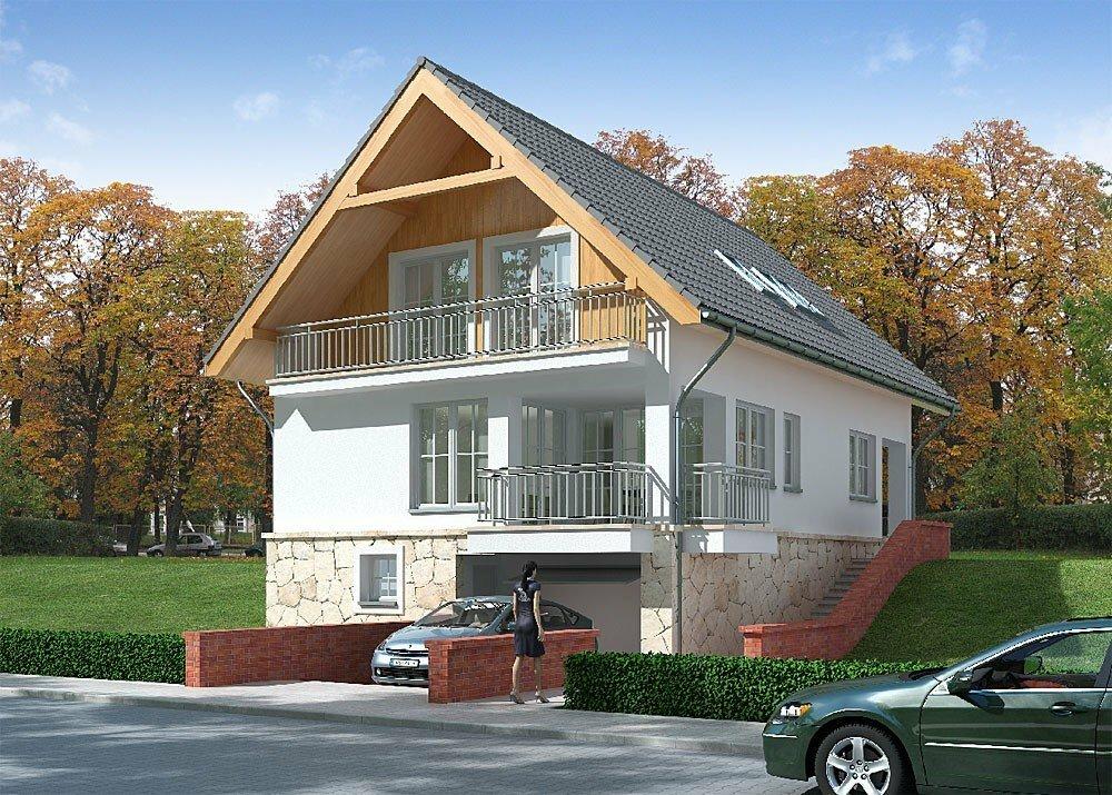 дома с цокольным этажом и мансардой фото стилист или оксана