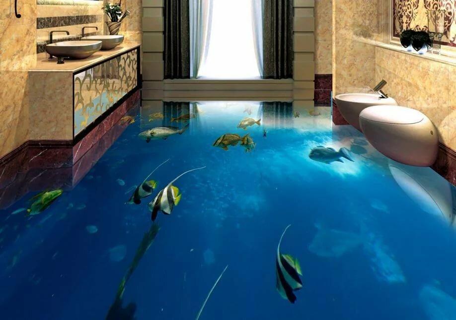 обычные фотообои под наливной пол самом деле