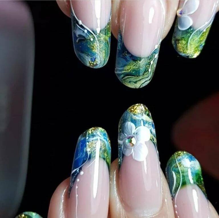 Картинки ногтей дизайна аквариумного