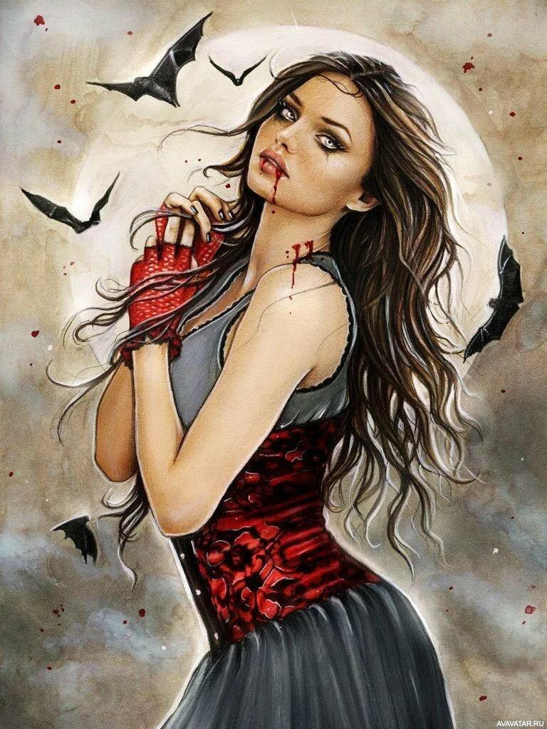 Картинки рисованных вампирш