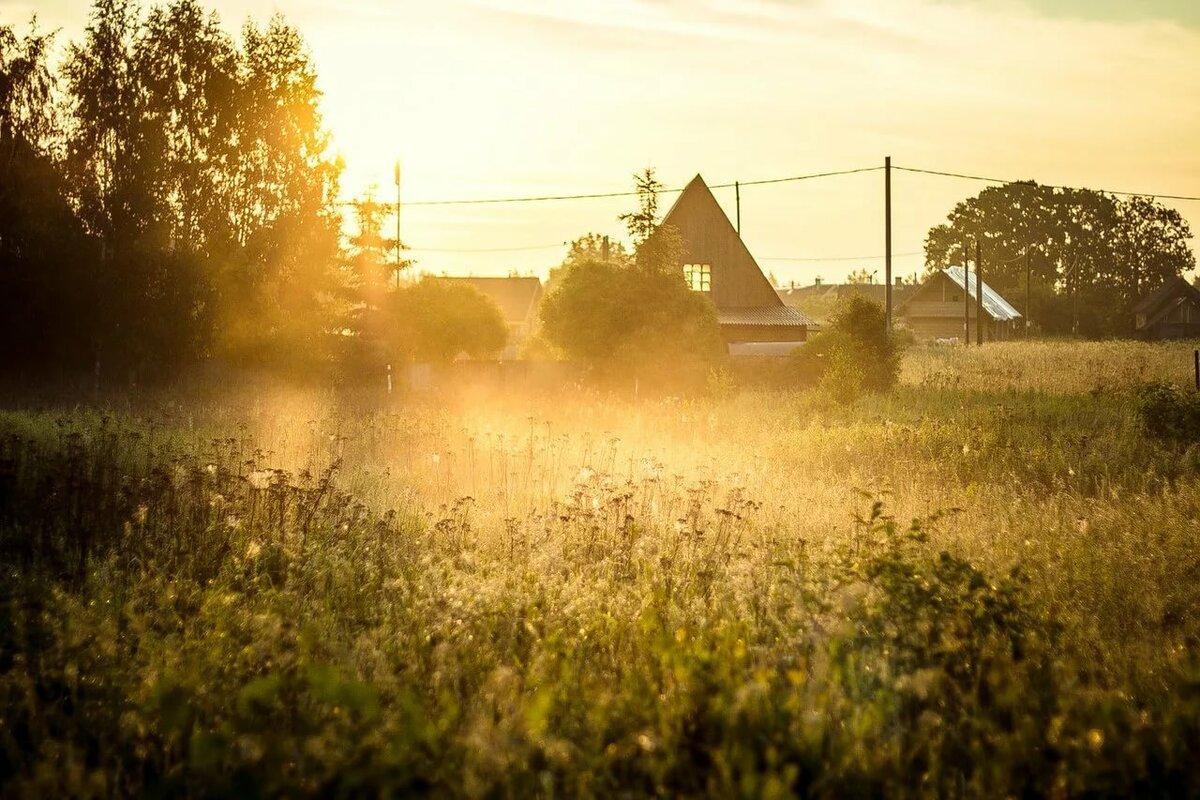 какой-то картинки деревни летом восход милая, хрупкая