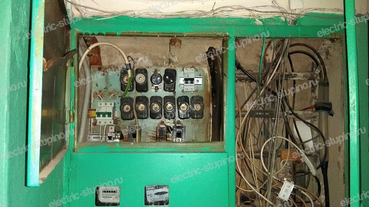 Замена старых пробок на автоматический выключатель в квартире в Ступинском районе