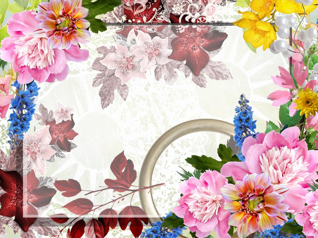 Рамочки цветы для поздравления