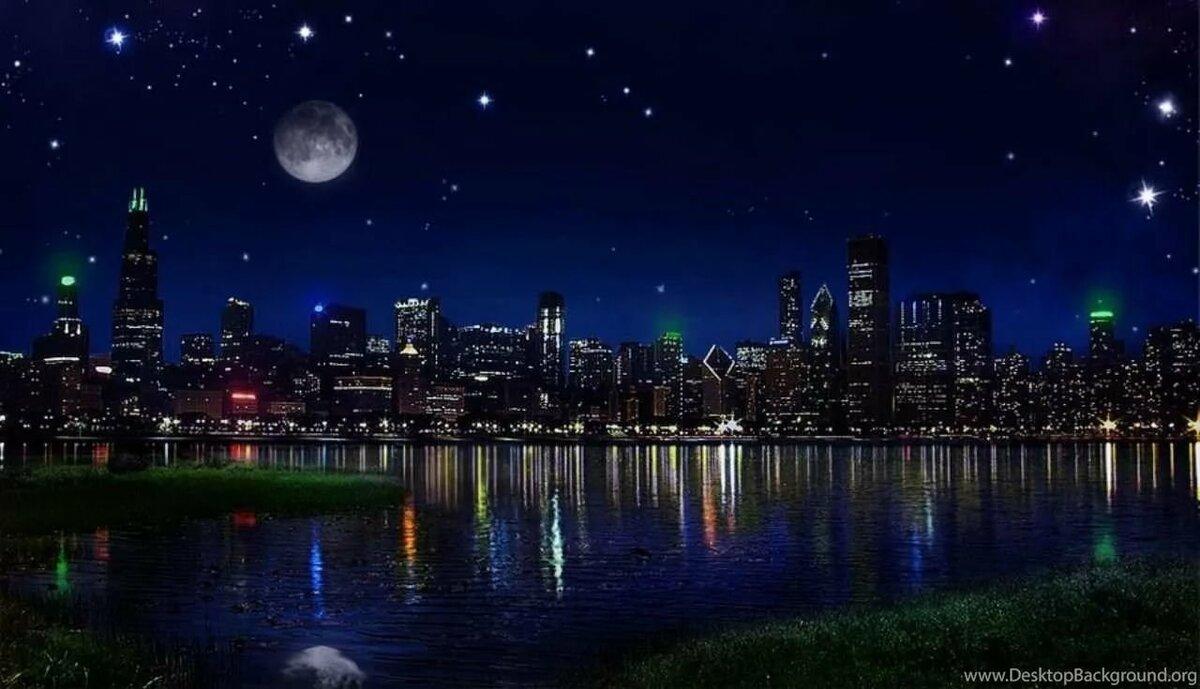 свет картинки с ночным изображением для качелей спинкой