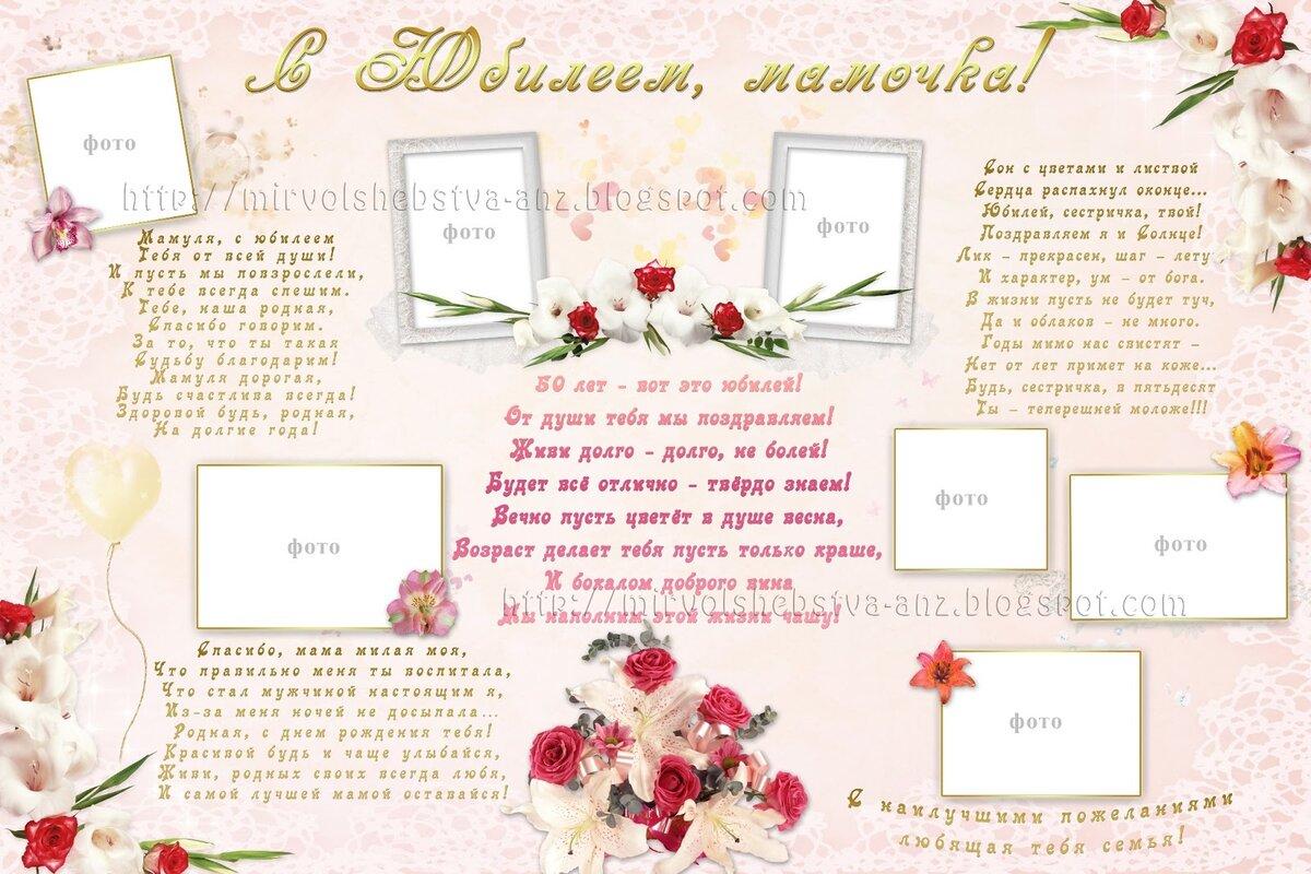 Плакат с поздравлением с днем рождения маме
