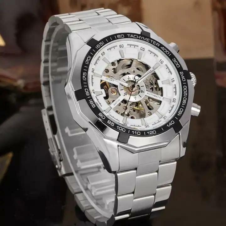 Мужские механические часы с автоподзаводом Winner Luxury White