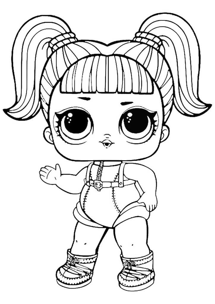 «Раскраски кукол Лол (Lol). Раскраски малышек Лол ...