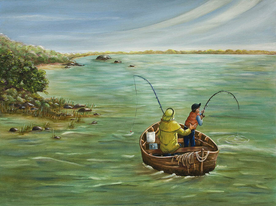 Картинки на рыбацкую лодку