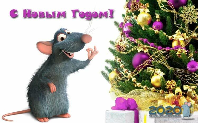 википедии есть открытка крыса поздравляет свою школу